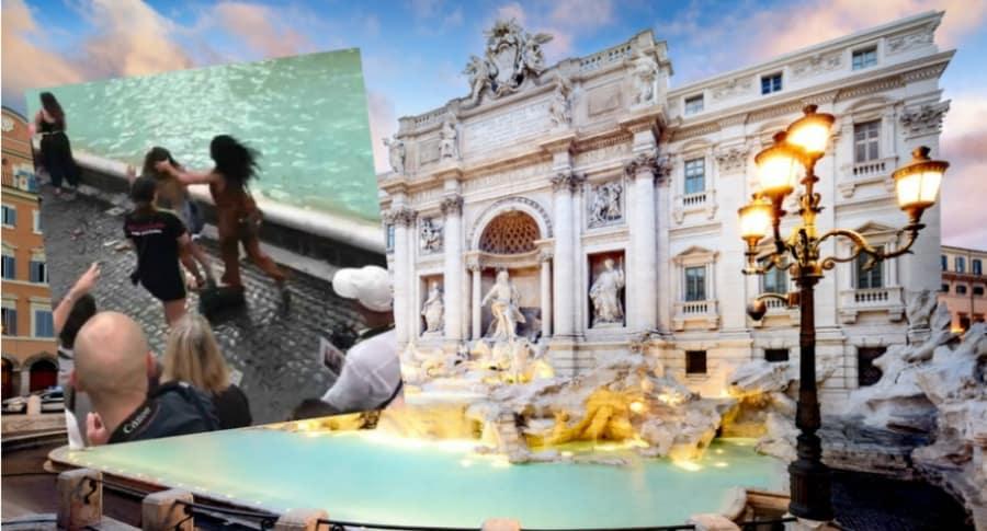 Pelea de mujeres en Roma.