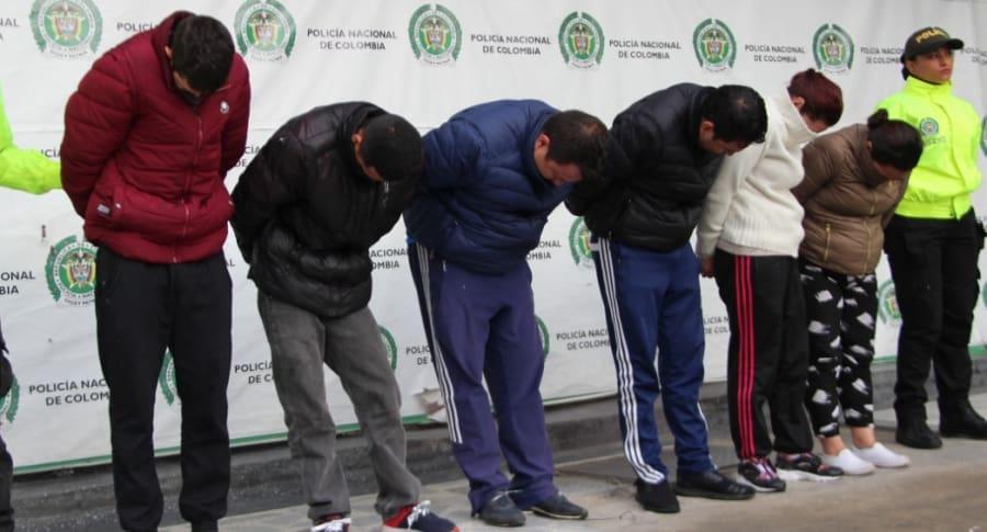Banda 'Los lisos', capturados por hurto en la modalidad de cosquilleo