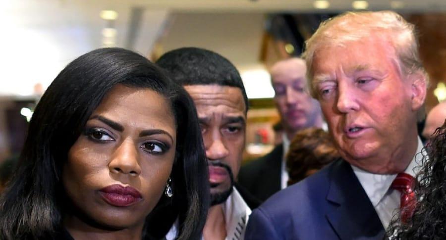 Omarosa Manigault Newman y Donald Trump