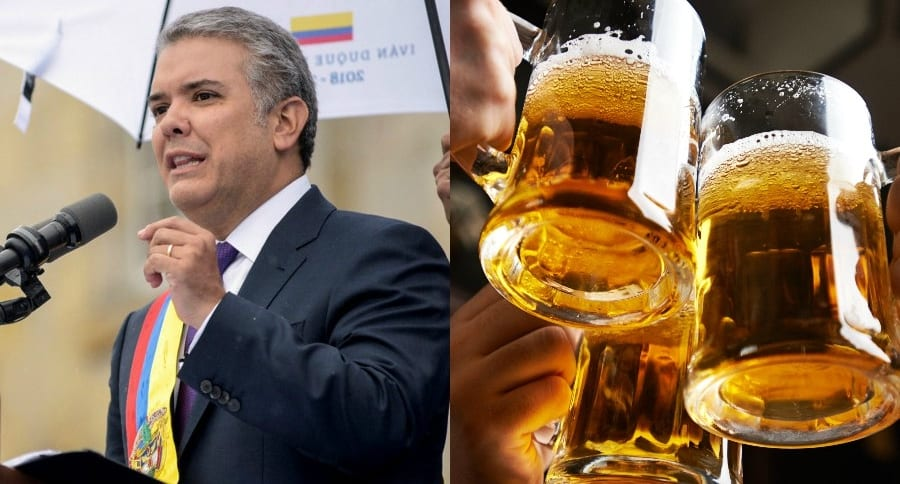 Collage Iván Duque Cervezas