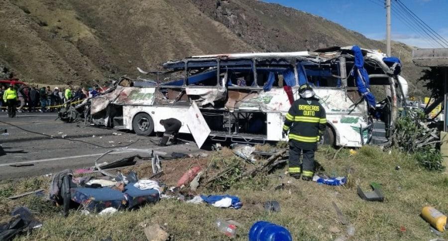 Accidente de Bus Ecuador