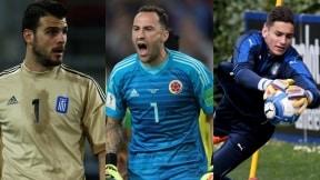 Orestis Karnezis, David Ospina y Alex Meret