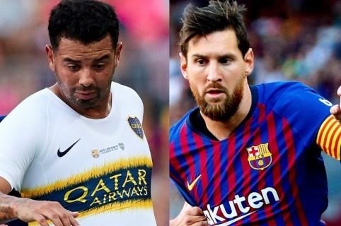 Edwin Cardona y Lionel Messi