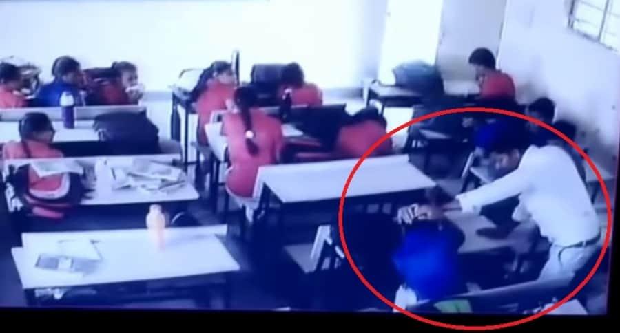 Golpiza de profesor a estudiante