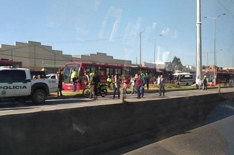 Bloqueos en calzada de Transmilenio, Autopista Sur