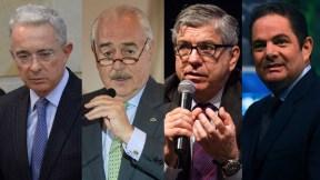 Álvaro Uribe, Andrés Pastrana, César Gaviria y Germán Vargas Lleras