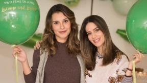 María Clara Rodríguez, presentadora, y Manuela González, actriz.
