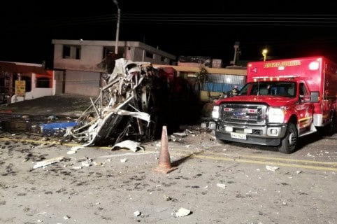 Accidente bus en Ecuador