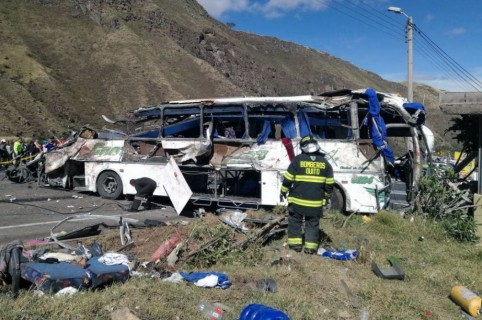 Accidente de bus en Ecuador