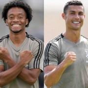 Juan Guillermo Cuadrado y Cristiano Ronaldo