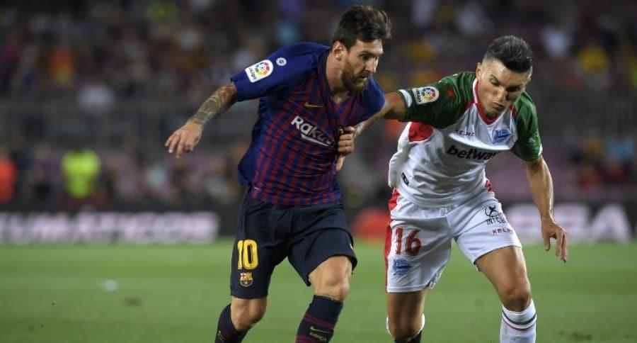 Lionel Messi y Daniel Torres