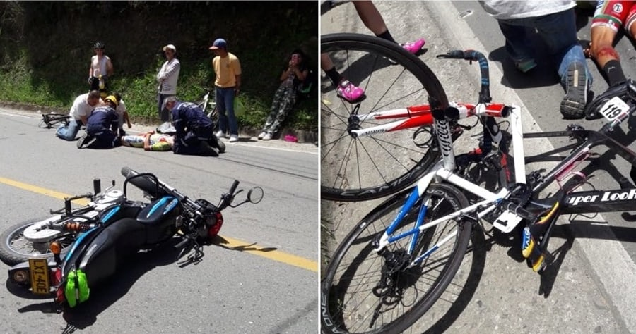 Accidente en la Vuelta a Colombia