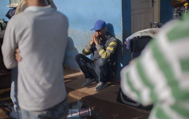 Migrante venezolano en la ciudad brasileña de Pacaraima, Brasil.