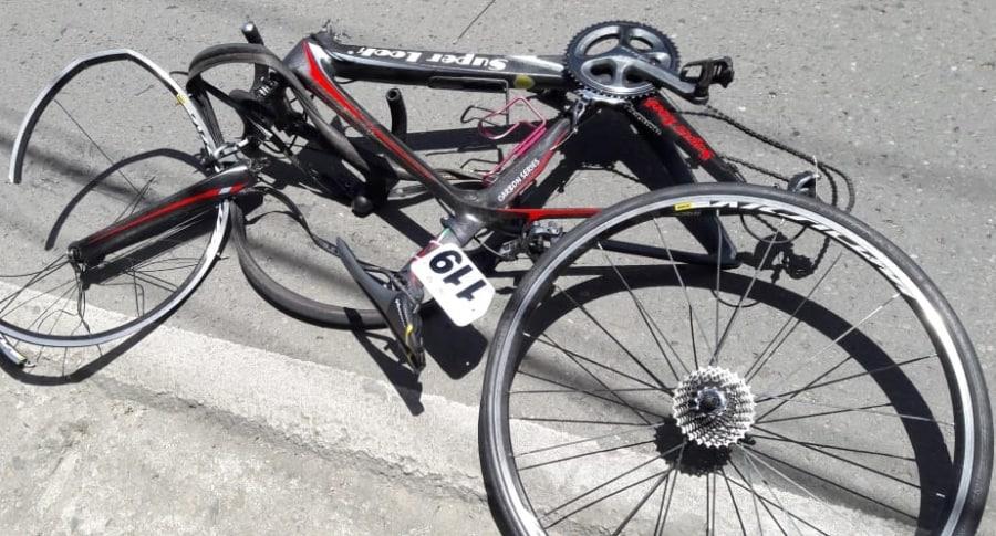 Bicicleta de Luis Alfredo López, hermano de Miguel Ángel 'Supermán' López