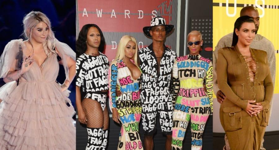 Kesha, Blac Chyna y Kim Kardashian