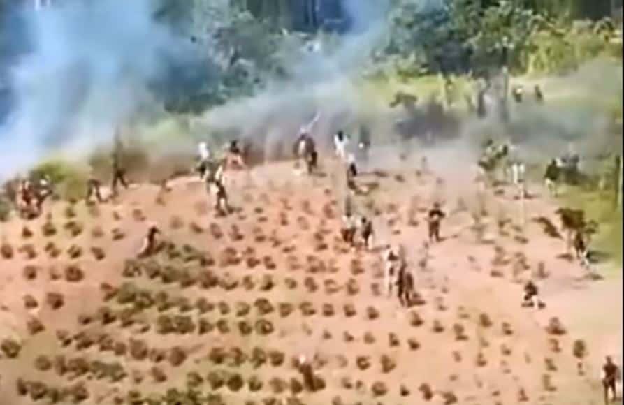 Enfrentamiento indígenas