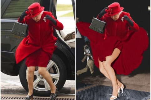 Convierten foto de Reina Isabel en memes.