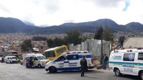 Accidente de buseta en sur de Bogotá