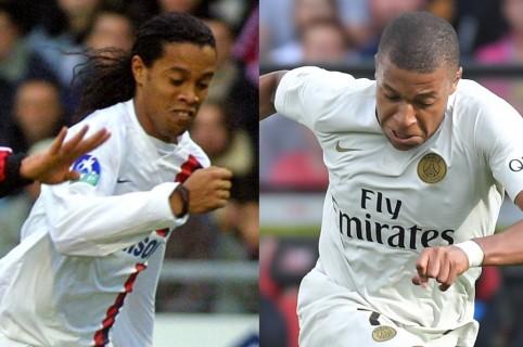 Ronaldinho y Mbappé