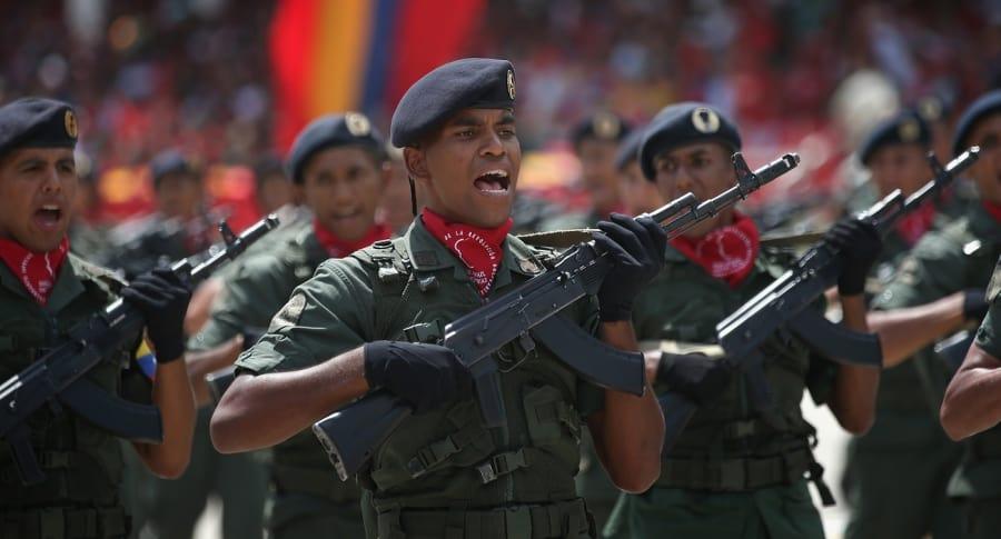 Miembros de la Fuerza Armada Nacional Bolivariana
