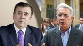 Javier Hernández Bonnet y Álvaro Uribe