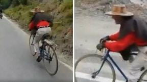 Viejito bicicleta