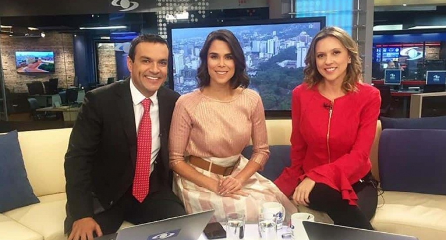 Juan Diego Alvira, Andreina Solórzano y Catalina Gómez, presentadores.