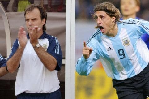 Marcelo Bielsa y Hernán Crespo