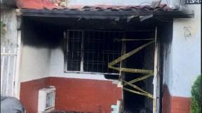 Vivienda en la que se produjo la conflagración y tragedia