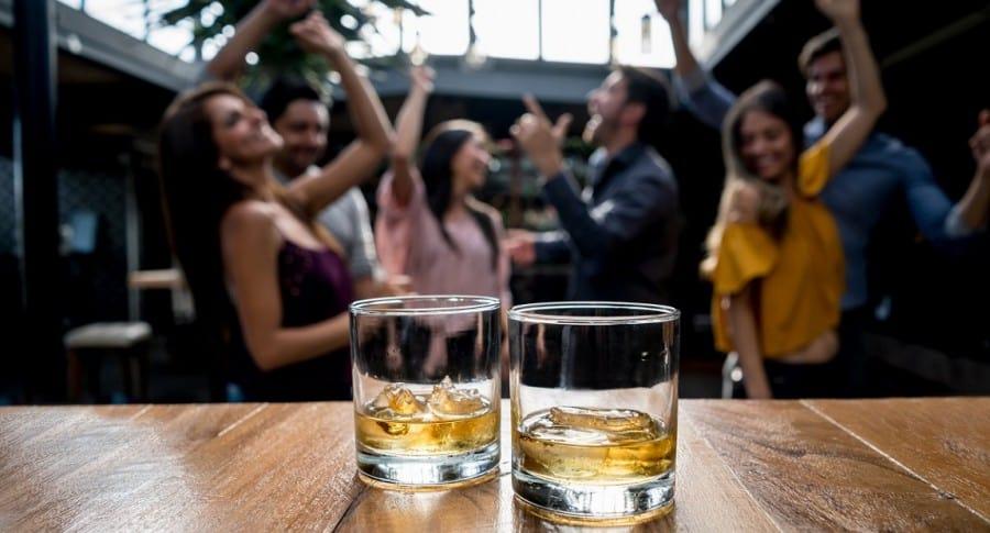 Fiesta con alcohol