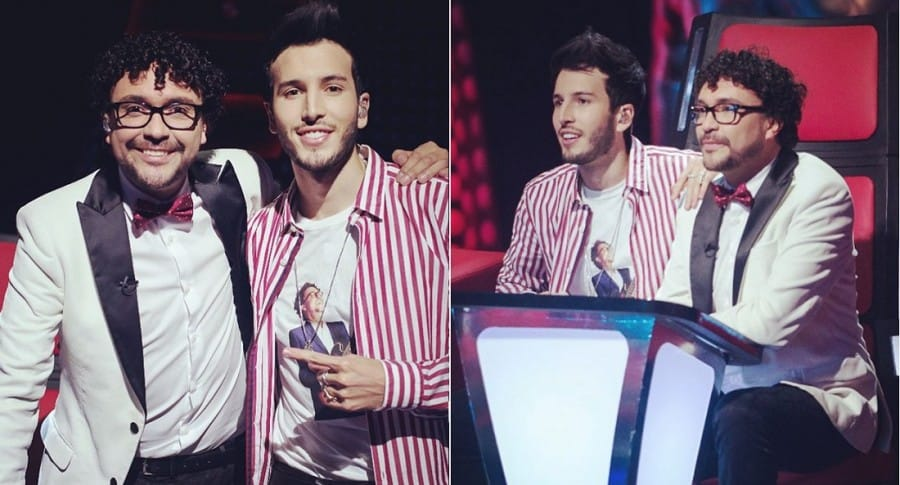 Andrés Cepeda y Sebastián Yatra, cantantes.