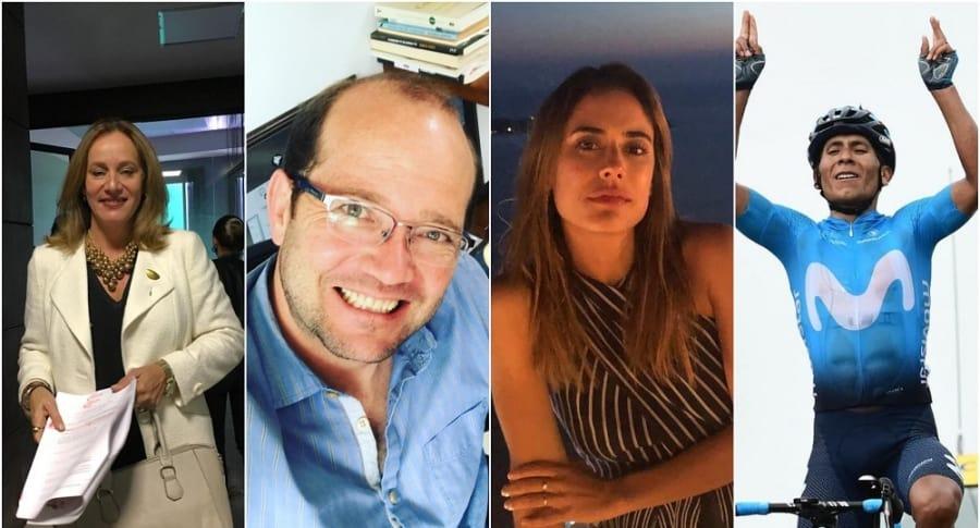 Alejandra Borrero, Daniel Samper, Carolina Ramírez y Nairo Quintana