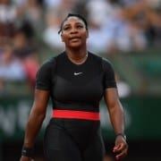 Serena Williams con su traje de 'Black Panther'
