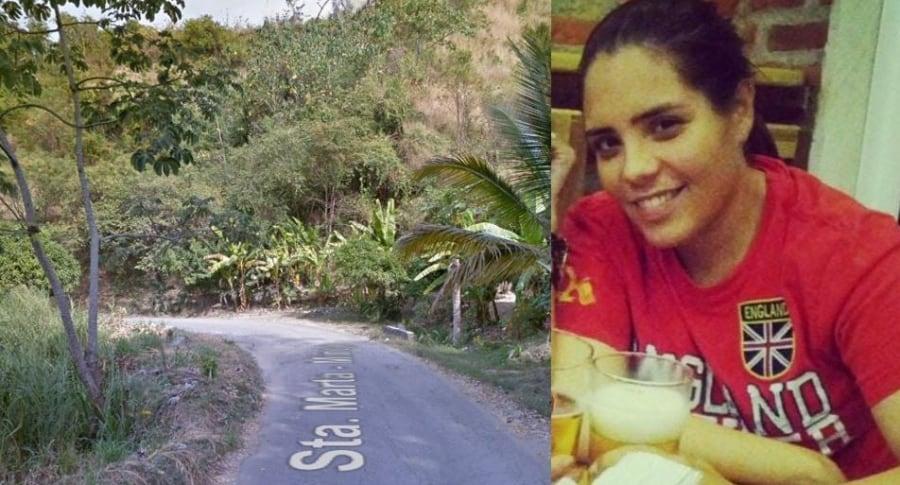 Melisa Martínez García habría desaparecido en esta carretera de la vía a Minca