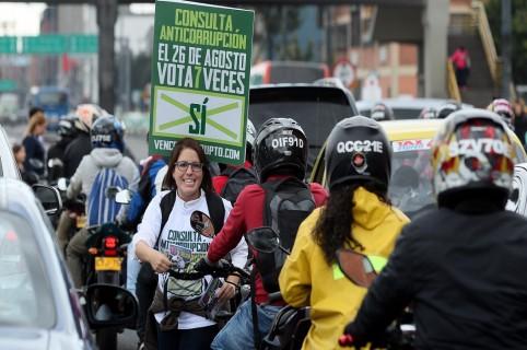Consulta anticorrupción en Colombia dará un mensaje claro, dice su promotora