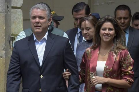 Iván Duque y María Juliana Ruíz