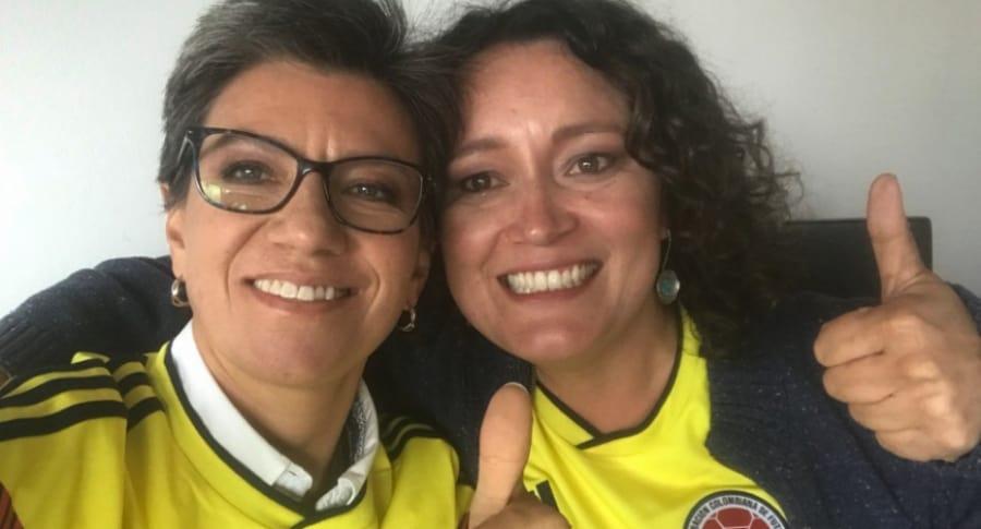 Claudia López y su novia, Angélica Lozano.