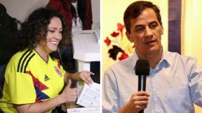 Angélica Lozano y Rafael Nieto
