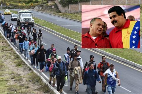 Migrantes venezolanos, Diosdado Cabello y Nicolás Maduro