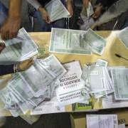 Tarjetones de la consulta anticorrupción