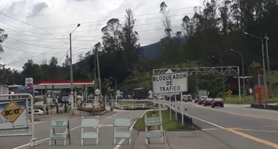 Vía Bogotá-Villavicencio cerrada