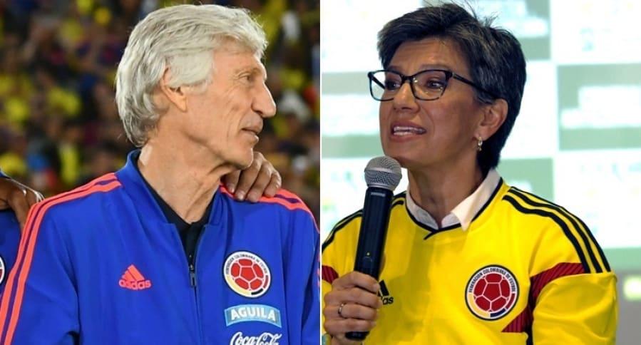 José Pékerman y Claudia López