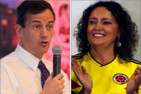 Rafael Nieto y Angélica Lozano