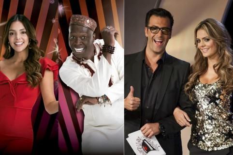 María Laura Quintero, Omar Murillo, Humberto 'el Gato' Rodríguez y Vaneza Peláez, presentadores.