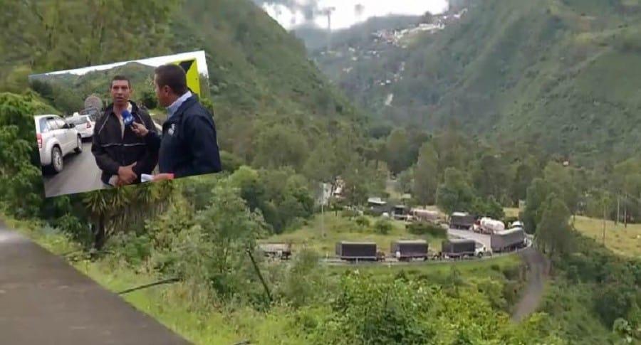 Cierre vía Bogotá-Villavicencio