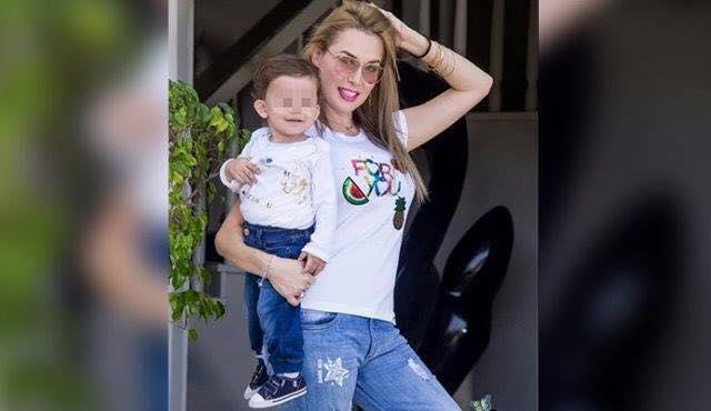 Jennifer Ramírez Rivero con su bebé
