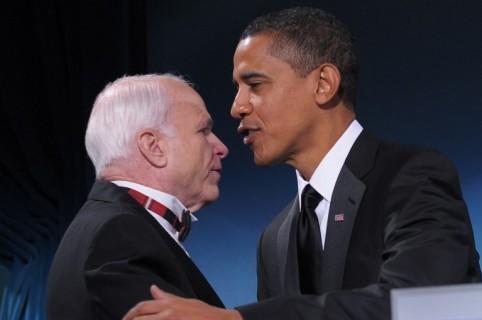 John McCain y Barack Obama