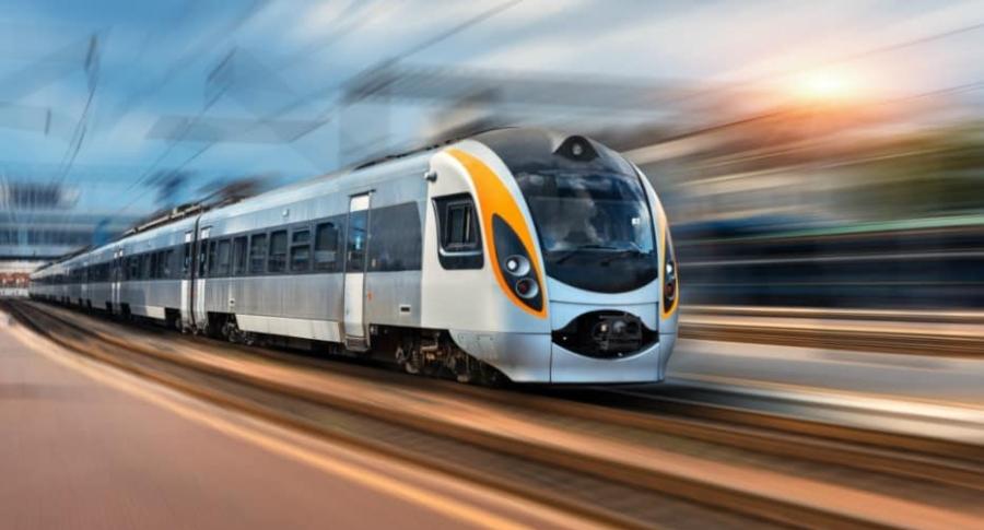 Tren en movimiento.