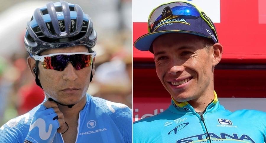 Nairo Quintana y Miguel Ángel López