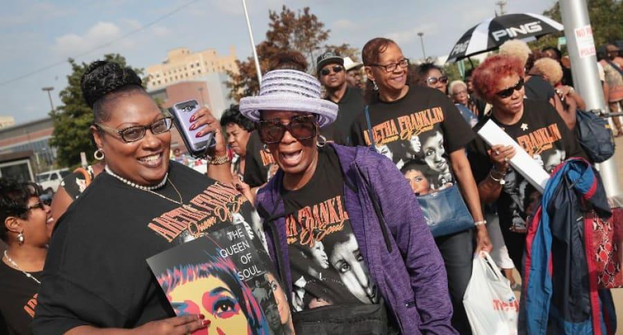 Filas para despedir a Aretha Franklin en Detroit